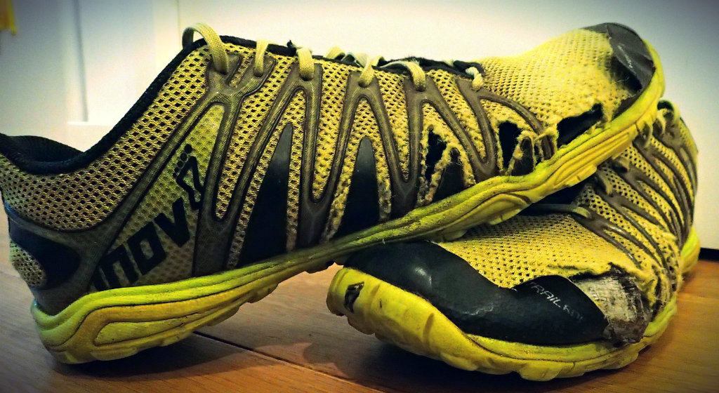 The Inov-8 Trailroc 235 at the end of their life
