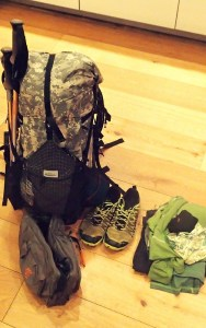 Bag ready to go on an expedition