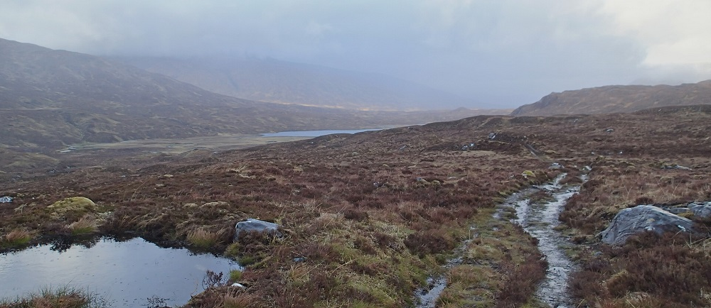 The long, bleak and tiring walk to Loch Cruoshie is humbling