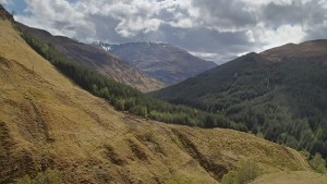 Looking south towards Dorusdain Wood and Meall'an Fhuarain Mhoir