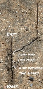 Stick method - west to east line