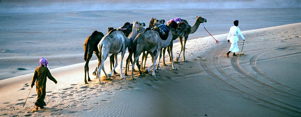 Nomads in the desert, Oman desert, Jordan