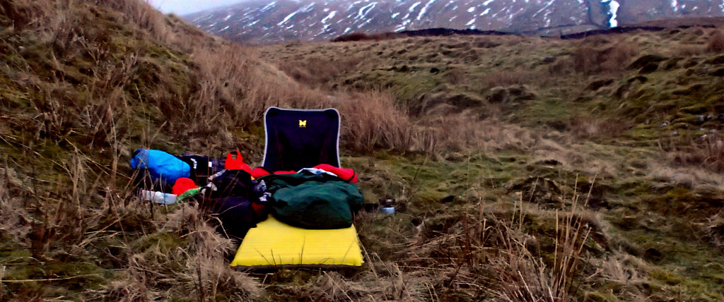 Winter bivy in the Peak District