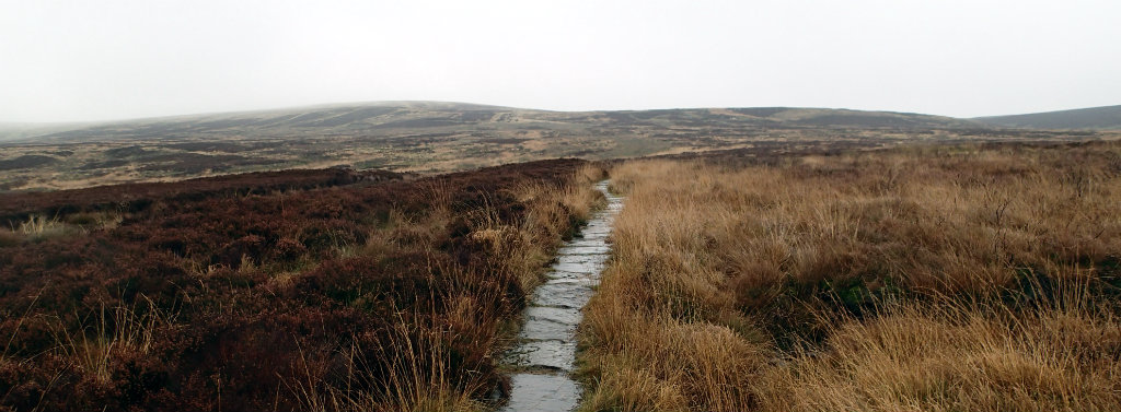 Luckily there are parts of the Pennine Way are paved.....