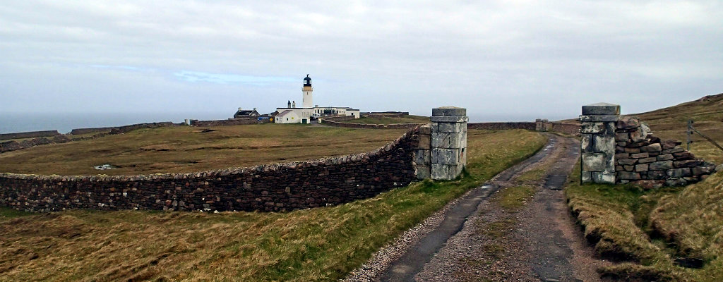 The Cape Wrath lighthouse - the end point of the Cape Warth Trail