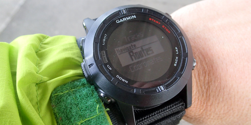 Using routes to follow is the best tool a GPS watch can offer