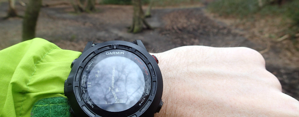 A GPS watch in its natural environment