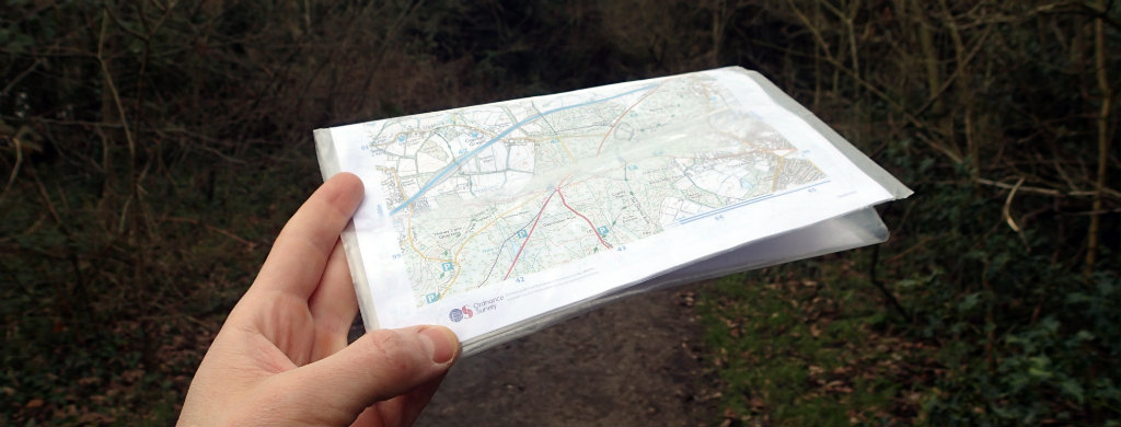 Home printed OS Maps in use