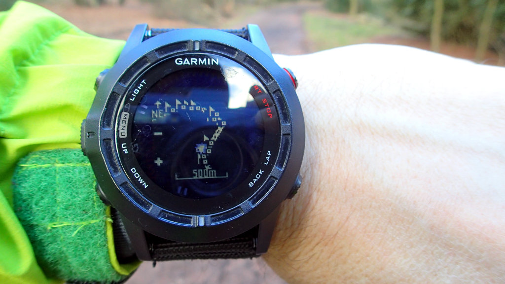 My favourite display on my GPS watch: schematic map