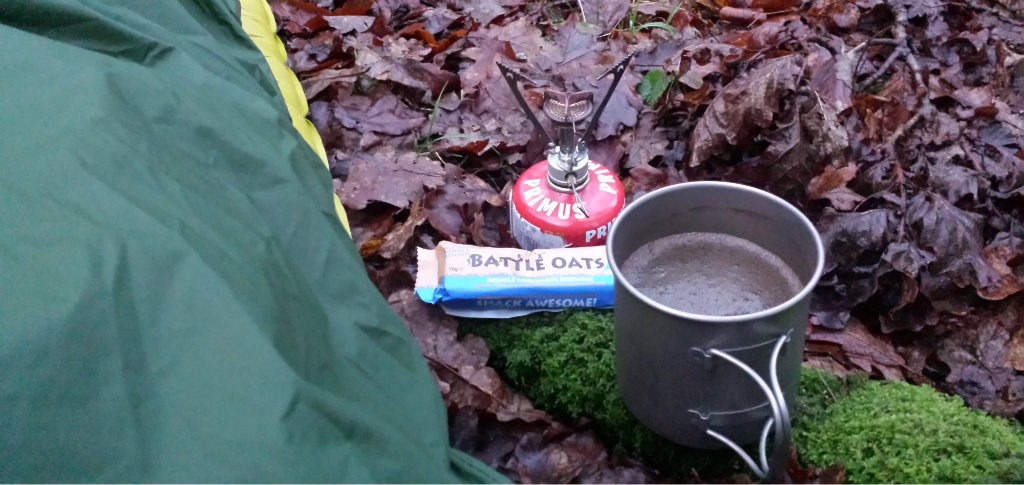 Could a breakfast be any simpler while still in the sleeping bag?