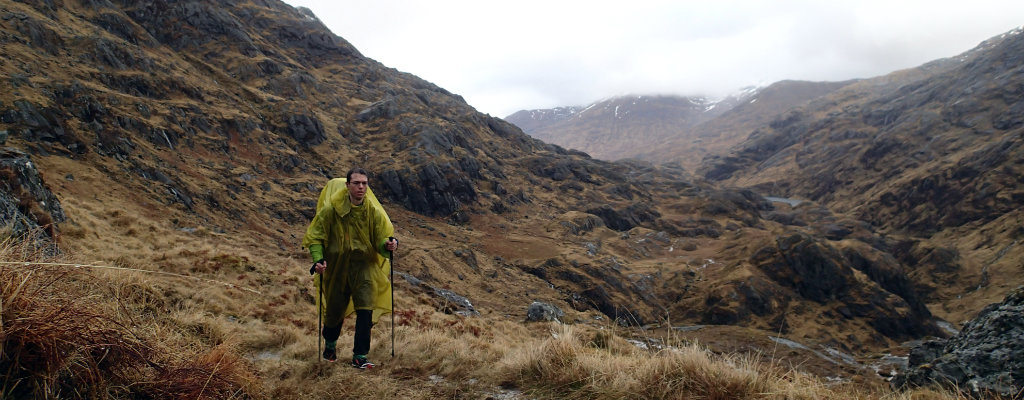 Climbing a bealach between Fort William and Attadale