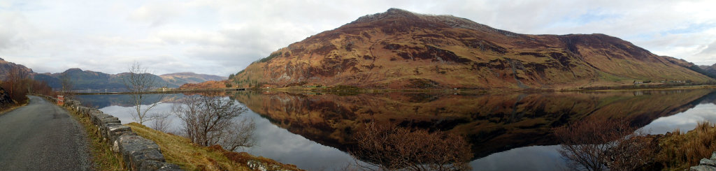 Stunning view on the road walk from Shiel Bridge to Morvich