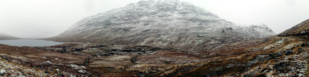 Beinn Dronaig in the heavy snow