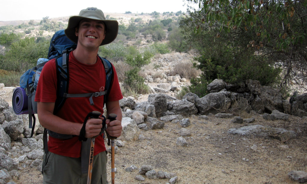 Me, hiking in Israel, back in the days....
