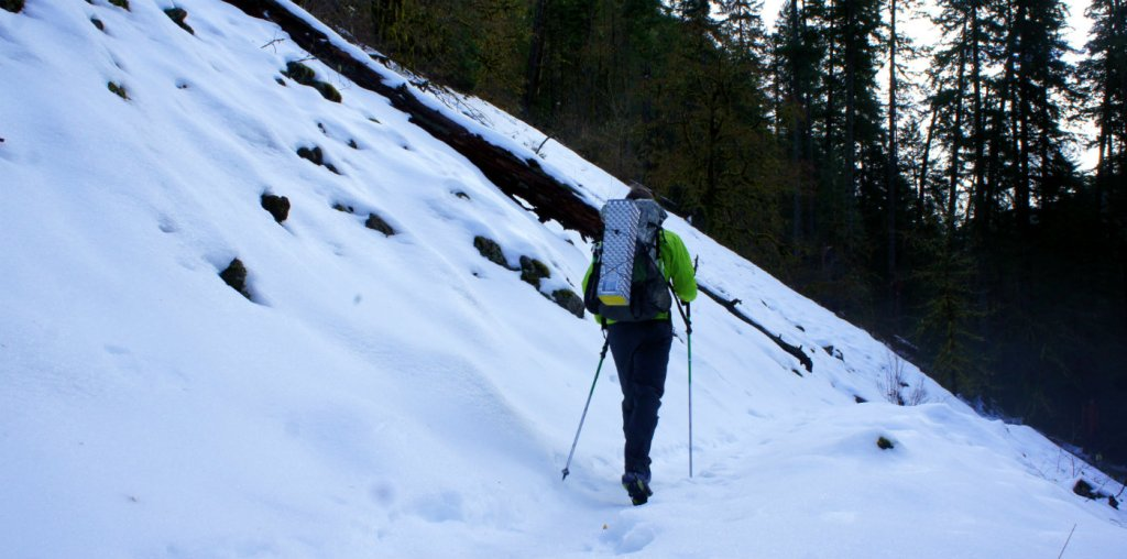 Backpacking Eagle Creek in Winter
