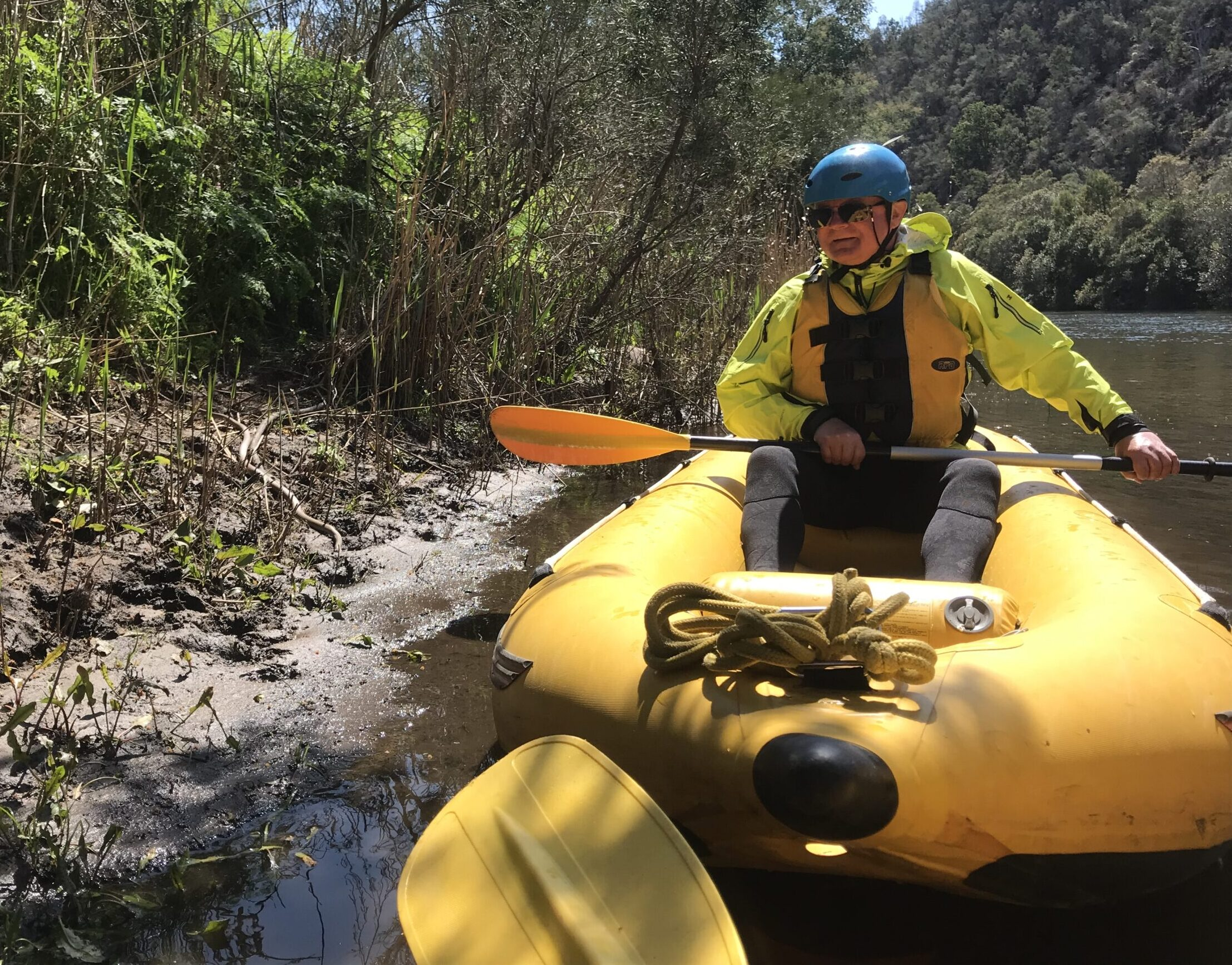 Out Doors Inc participant, Kevin Neild, white water rafting on a program