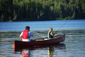 canoe fly fishing
