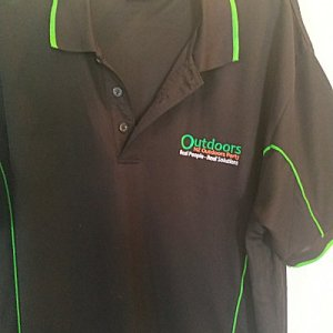Polo shirt with Outdoors Party Logo