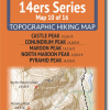14ers Series Map 10 of 16 - Castle, Conundrum, Maroon, North Maroon, Pyramid Cover