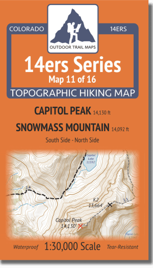 14ers Series Map 11 of 16 - Capitol, Snowmass Cover
