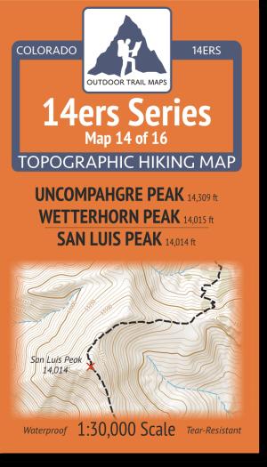 14ers Series 14 of 16 - Uncompahgre, Wetterhorn, San Luis Cover