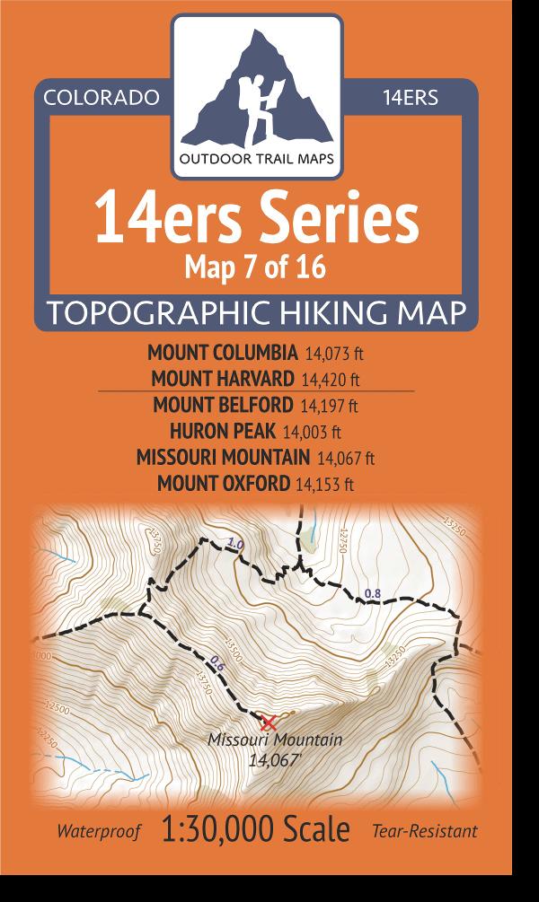 14ers Series 7 of 16 Columbia, Harvard, Belford, Huron, Missouri, Oxford Cover