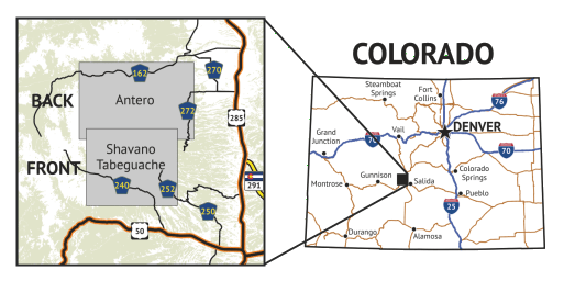 14ers Map Series 9 of 16 location overview