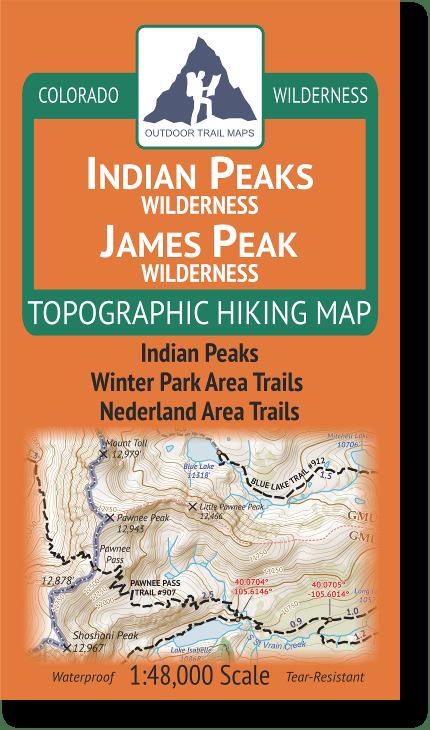 Cover of Indian Peaks Wilderness / James Peak Wilderness Map