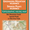 Cover of Greenhorn Mountain / Spanish Peaks Wilderness Hiking Map