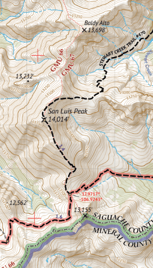 La Garita Wilderness Map Crop 1