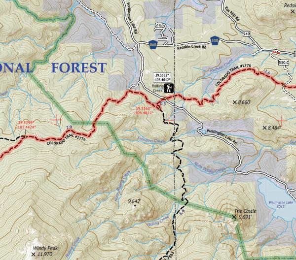Lost Creek Wilderness Map Crop 3