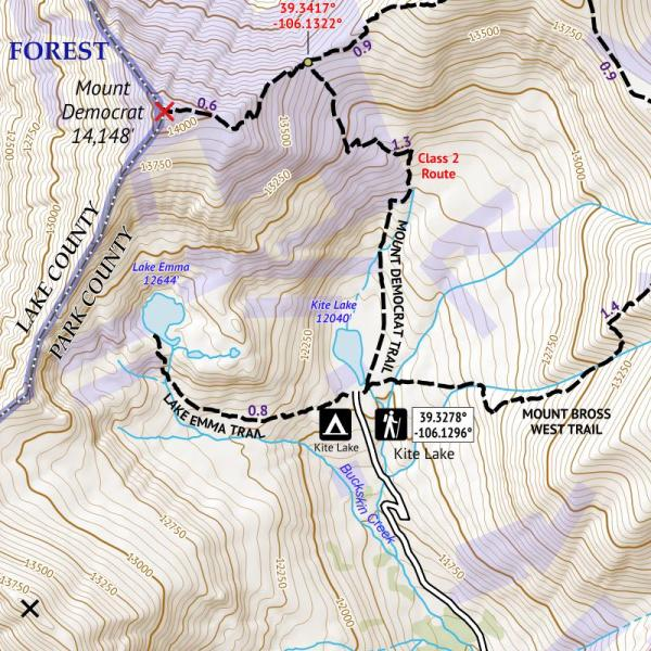 Crop of 14ers Series Map 4 of 16