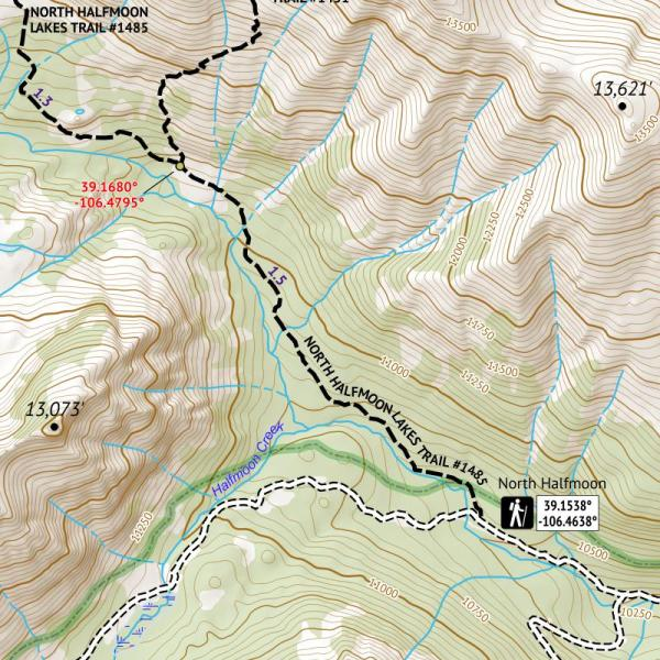 Crop of 14ers Series Map 5 of 16 - Mount Massive, Mount of the Holy Cross