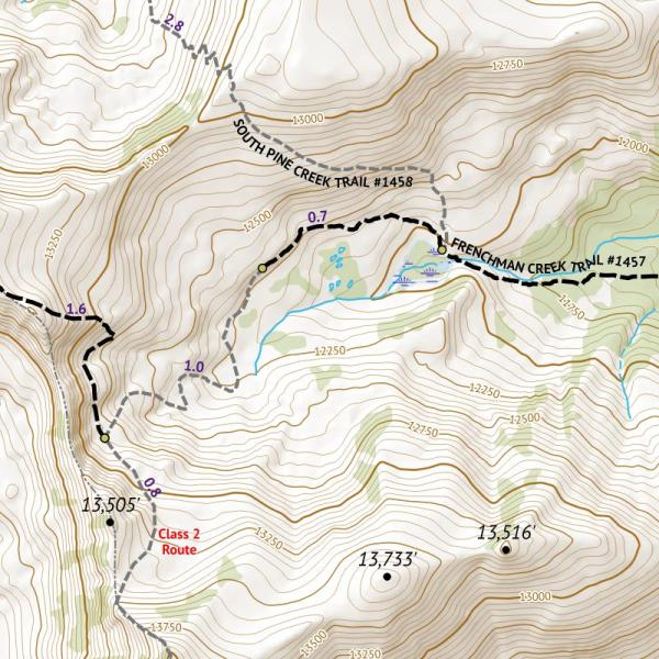 Crop from 14ers Series Map 7 of 16