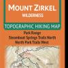 Cover of Mount Zirkel Wilderness Hiking Map