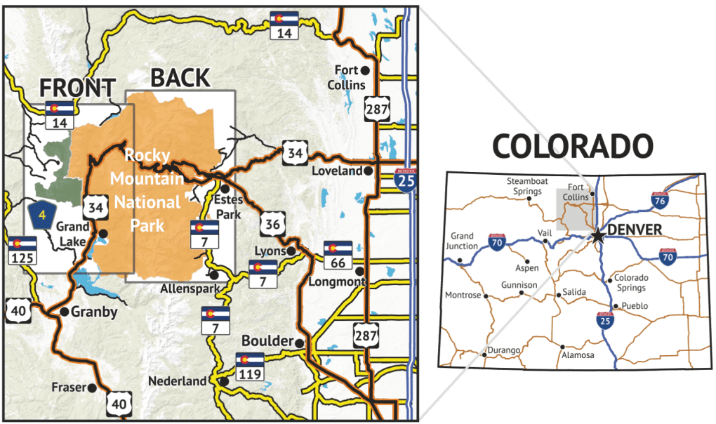Rocky Mountain National Park Location Overview