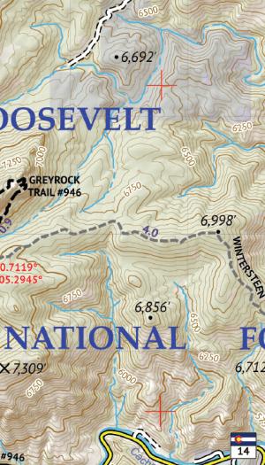 Poudre Canyon Hiking Map Crop 1