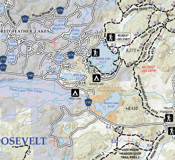 Poudre Canyon Hiking Map Crop 3