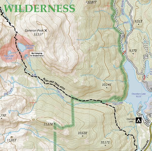Rawah Wilderness Hiking Map Crop 3
