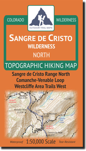 Cover of Sangre de Cristo Wilderness NORTH Hiking Map