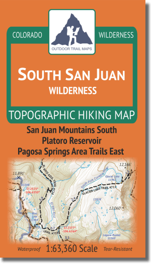 Cover of South San Juan Wilderness Hiking Map