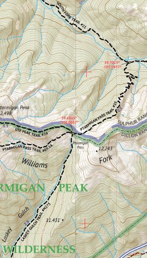 Vasquez / Byers / Ptarmigan Peak Wilderness Map Crop 2