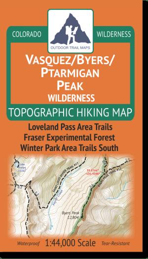 Cover of Vasquez / Byers / Ptarmigan Peak Wilderness Hiking Map