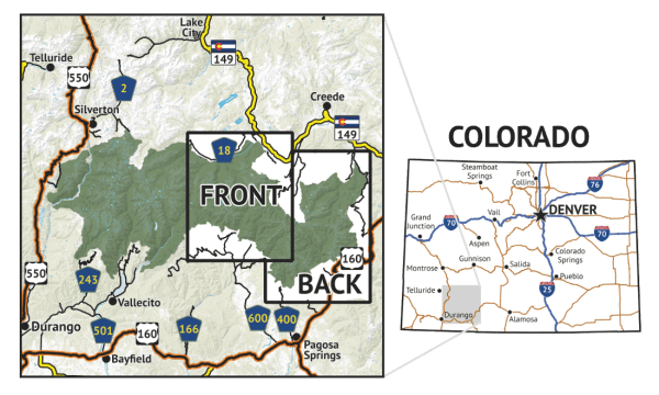 Location overview for Weminuche Wilderenss East