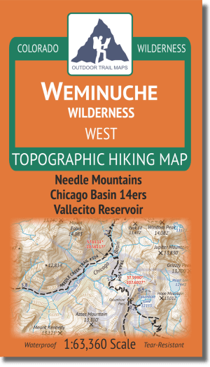 Cover of Weminuche Wilderness West Hiking Map