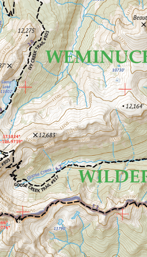 Weminuche Wilderness East Map Crop 1