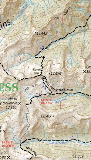 West Elk Wilderness Map Crop 1