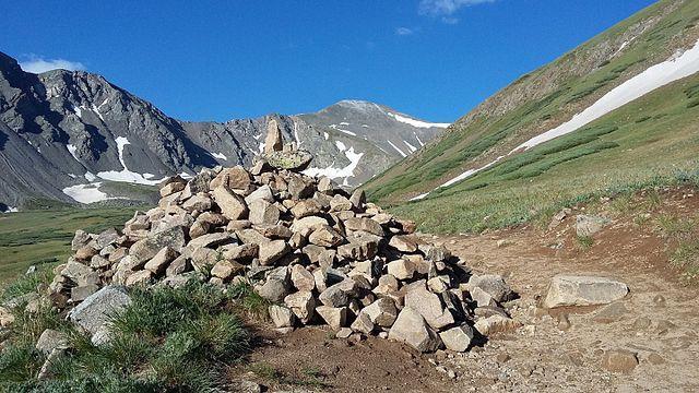 Rock cairn on Grays Peak Trail
