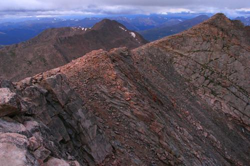 View from the Mount Evans summit