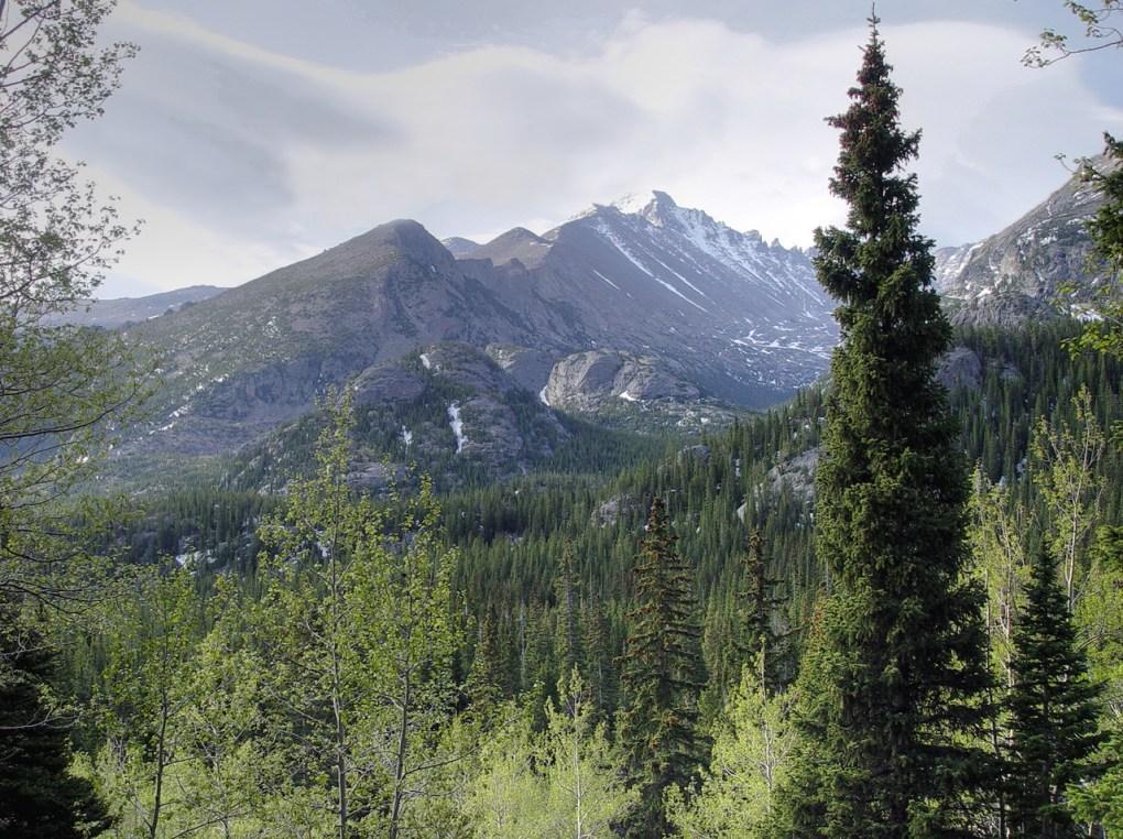 Longs Peak from Dream Lake Trail